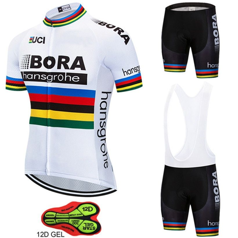 On Sale 2018 Bike Team BORA hangsgrohe Cycling Sets Maillot Ropa Ciclismo  Bicycle Jersey Summer Bike Cycling Clothing Outdoor Jersey Men cefa66de812ca