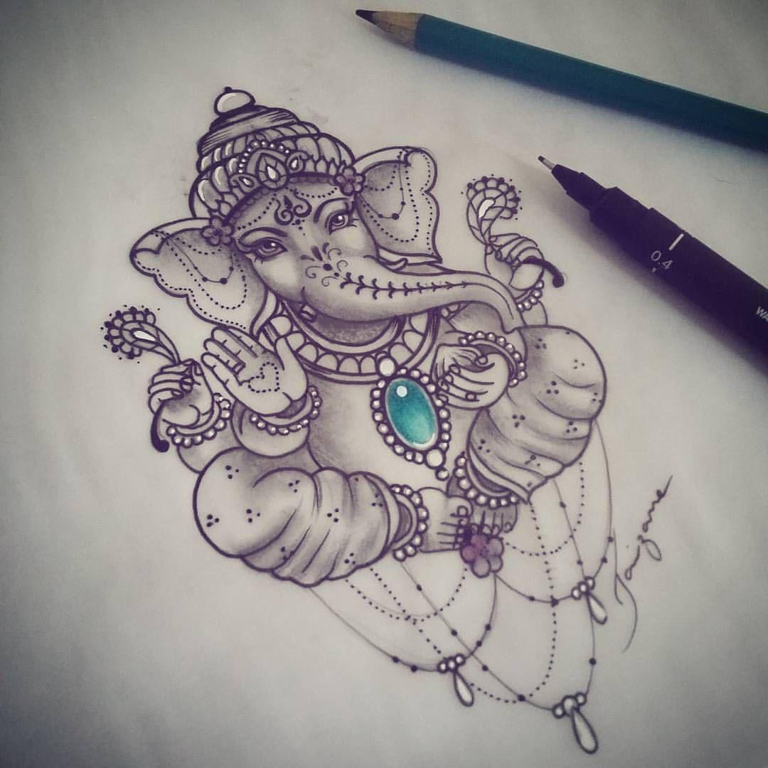 Tattoo Designs Ganapati: Terminando Mais Uma Encomenda! Amado Ganesha