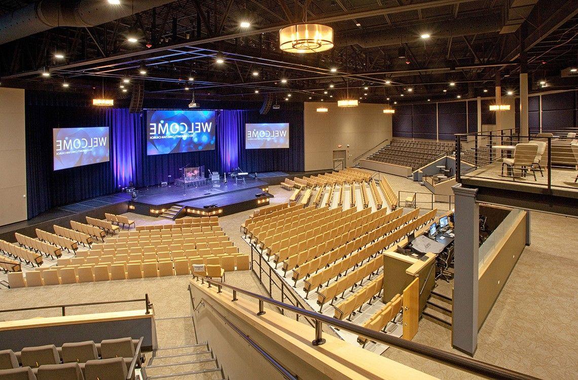 Community Christian Church Auditorium Aspen Group Building For Ministry Church Interior Design Church Design Church Design Architecture