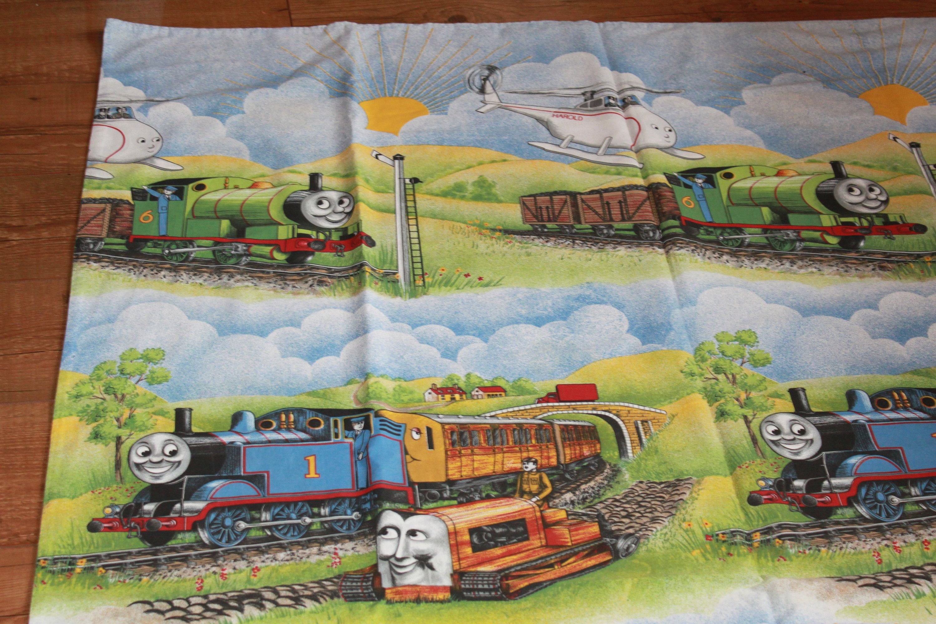 Thomas The Tank Engine And Friends 1980s Vintage Single Duvet Cover Pillowcase By Atticbazaar