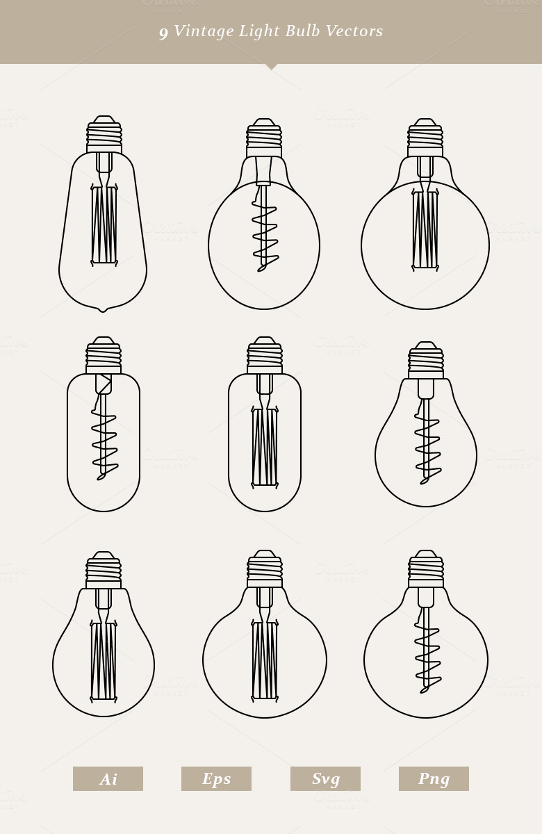 Line Drawing Light Bulb : Vintage light bulb vectors by dreamstale on creative