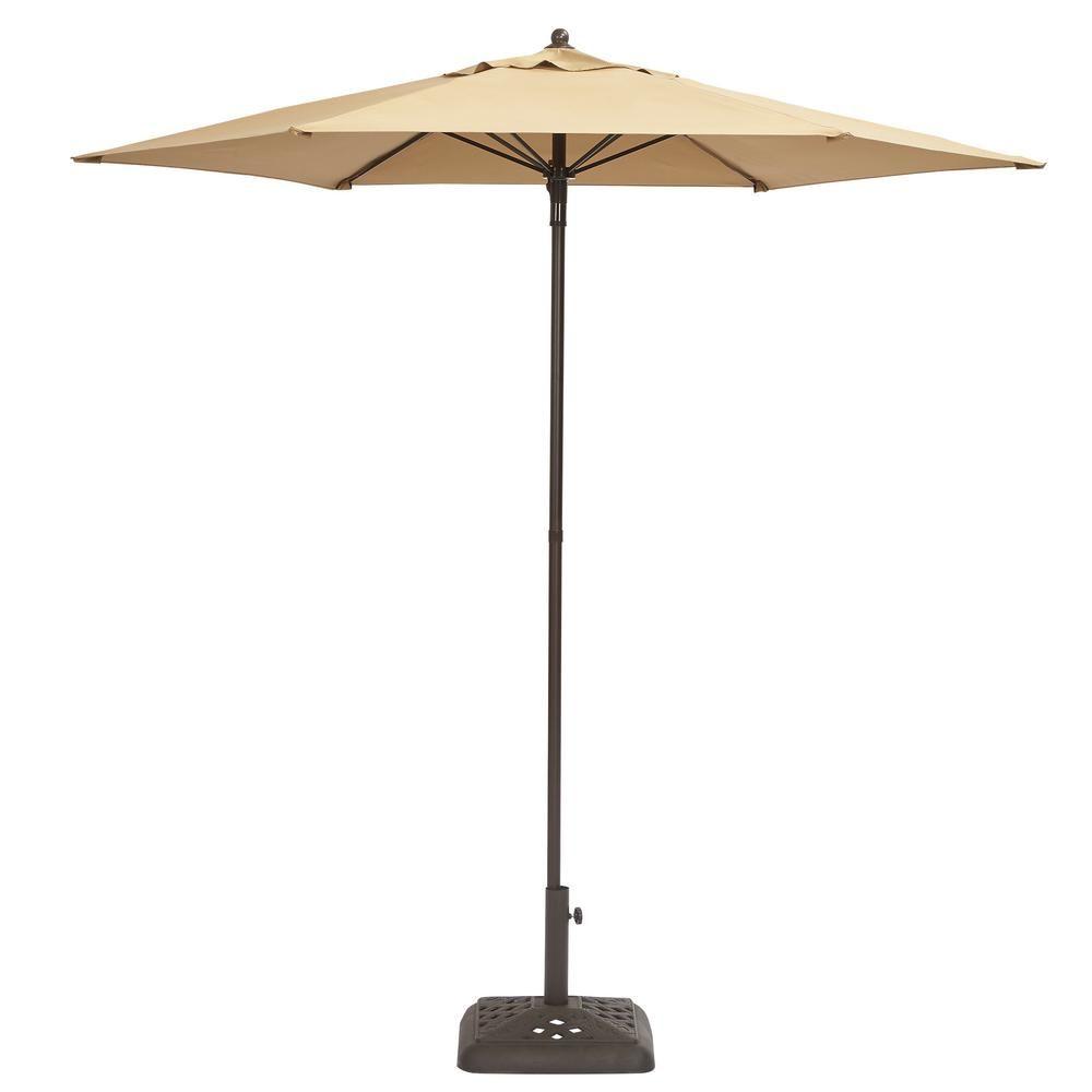 Hampton Bay 7 1 2 Ft Steel Patio Umbrella In Periwinkle