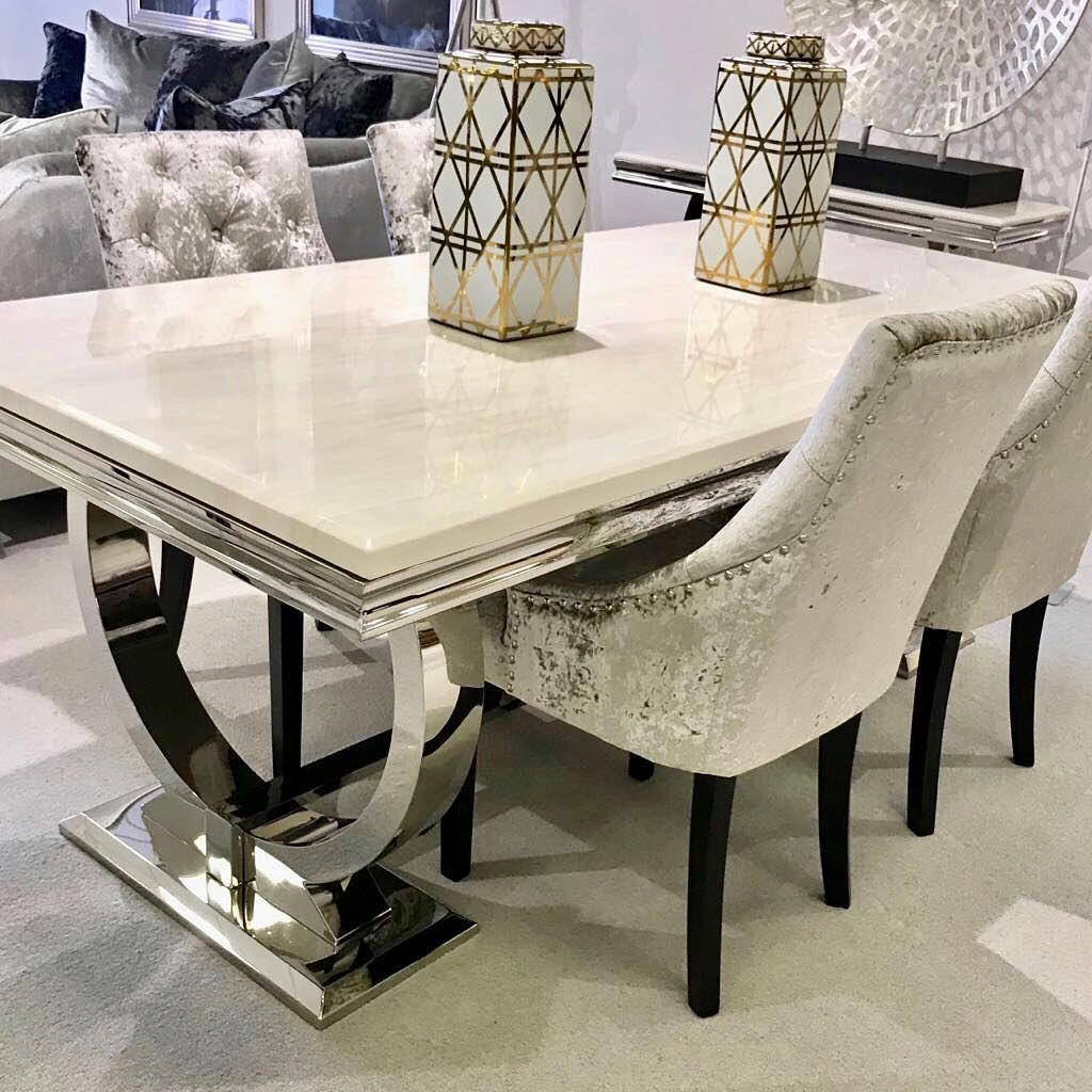 Tides Home Garden On Instagram Our Arianna Cream Dining Table Special Offer Instore And O Dining Room Table Marble Granite Dining Table Dining Table Marble