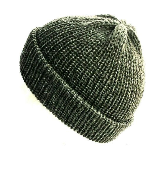 99b869d1dd9 Grey knitted beanie hat trawler beanie with brim ☆ Are you looking for a  non-slouchy beanie  If so