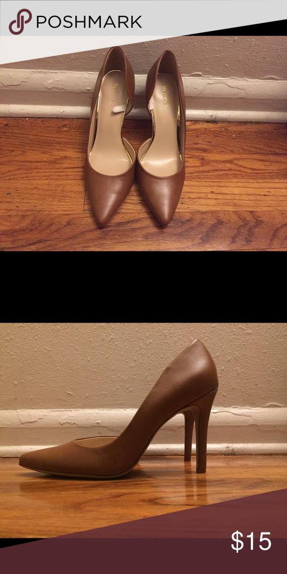 b94534c2638 Nude Faux Leather Pumps Nude Faux Leather Pointed-toe 4