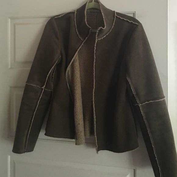 Vince brand soft zipper jacket Beautiful green soft suede jacket Vince Jackets & Coats