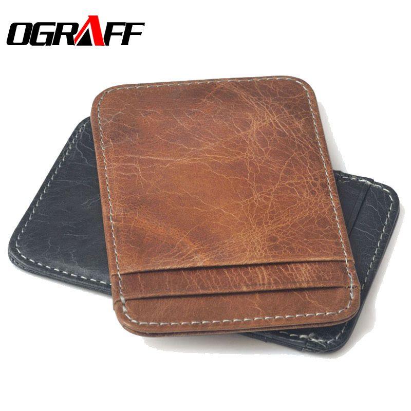 OGRAFF Genuine leather men credit card holder high quality ...