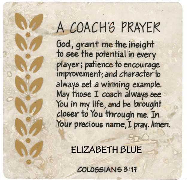 A Coach's Prayer | DIY | Pinterest | Cheer, Volleyball and ...
