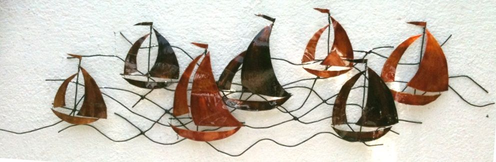 Metal Wall Art Sailing Boats With Images Metal Wall Art
