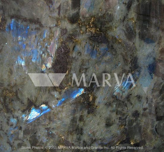 LABRADOR BLUE AUSTRAL  Origin : Madagascar  Color Group : Blue  Stone Type : Granite  Manufacturer : Marva Marble