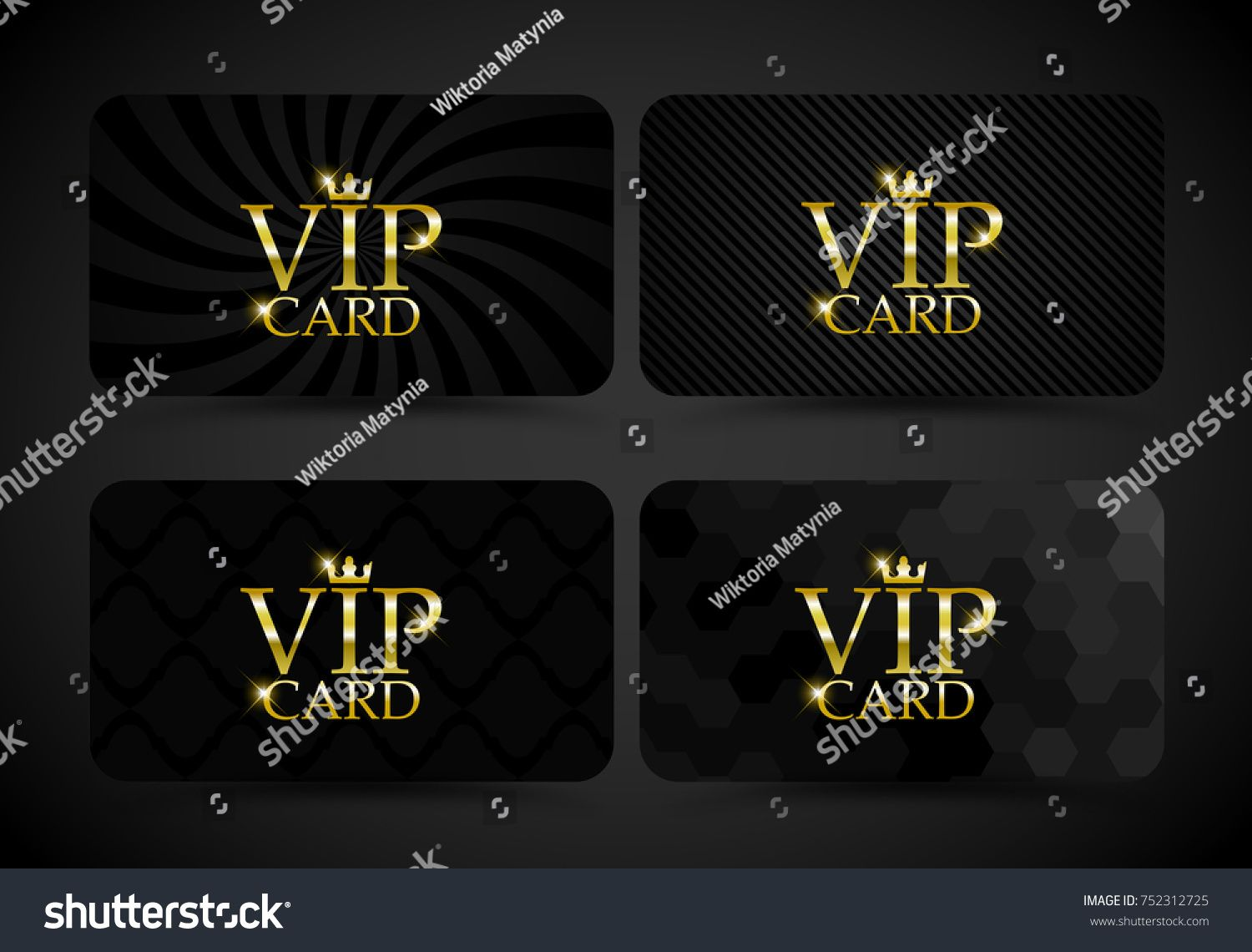 Vip Card Set Vector Vip Card Luxury Background Gold Vector Design Premium Exclusive Platinum Set Golden Club Vip Card Invitation Card Design Cards