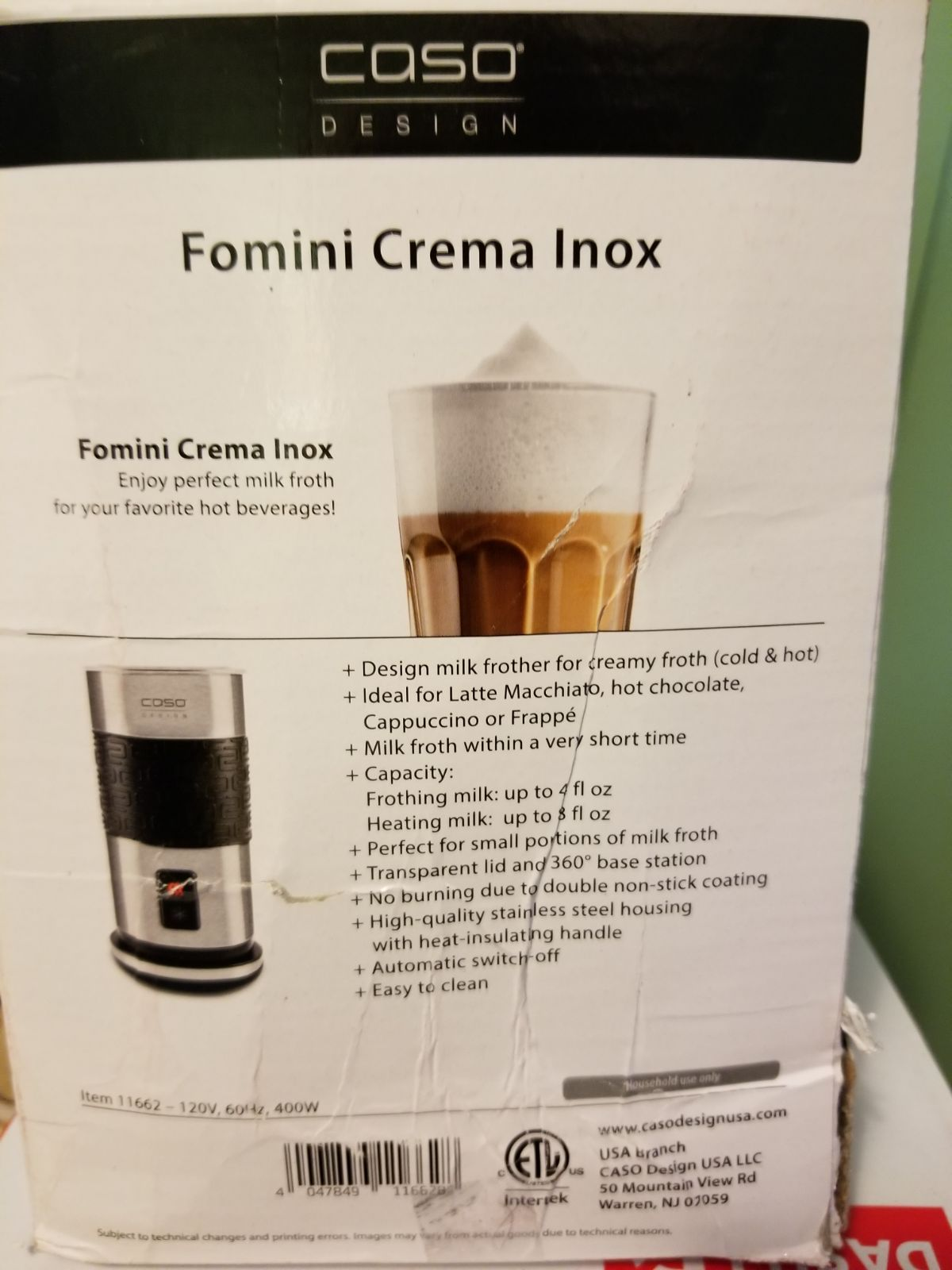 Milk frother CASO