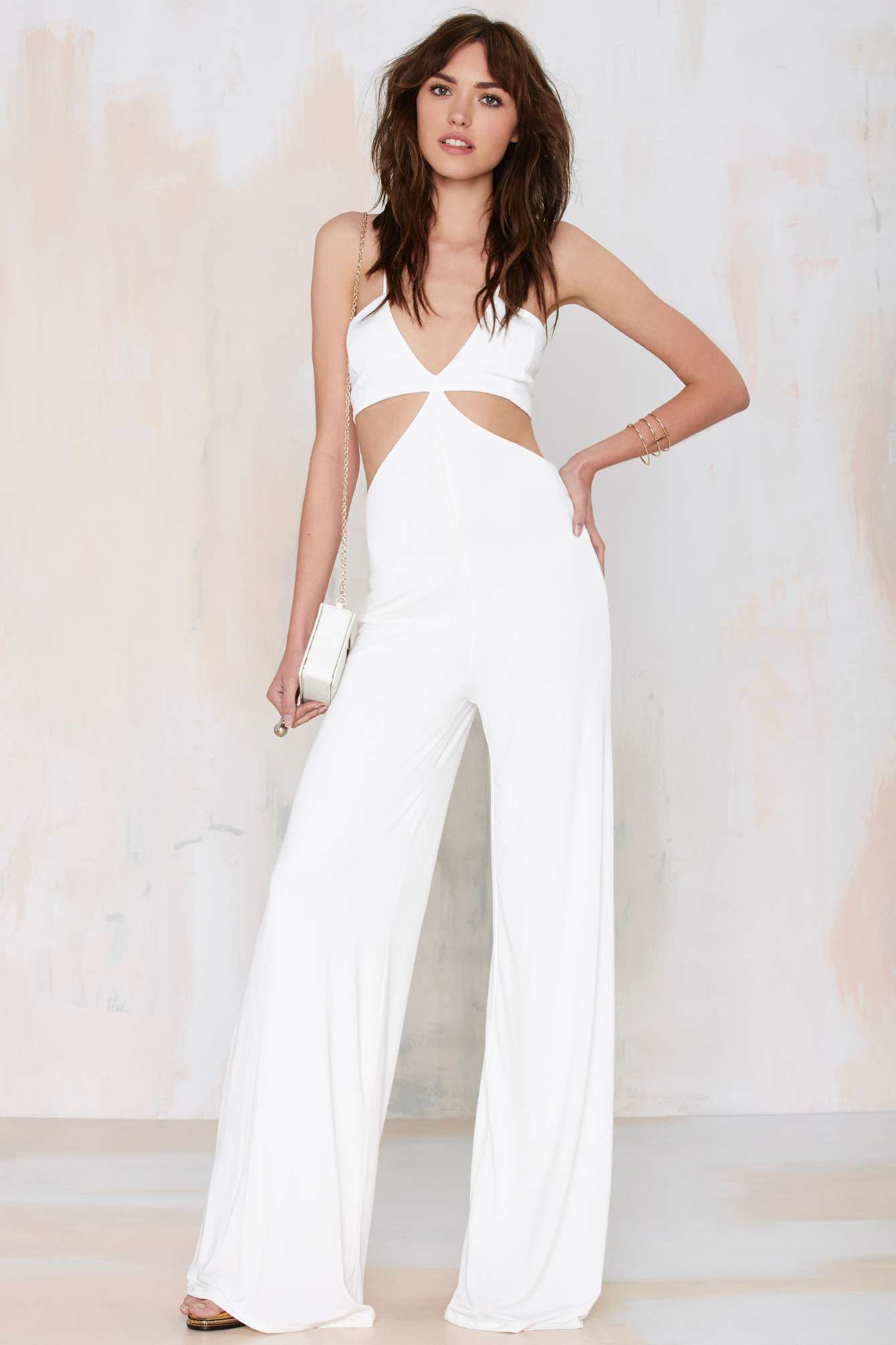 5ec9431fdce0 Nasty Gal Frisco Inferno Knit Cutout Jumpsuit
