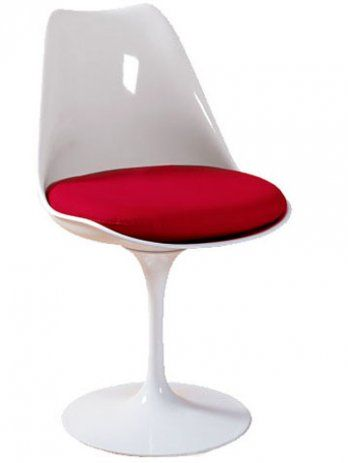 Tulip Chair By Eros Saarinen We Have It In White With Teal Cushion But Where Should I Put