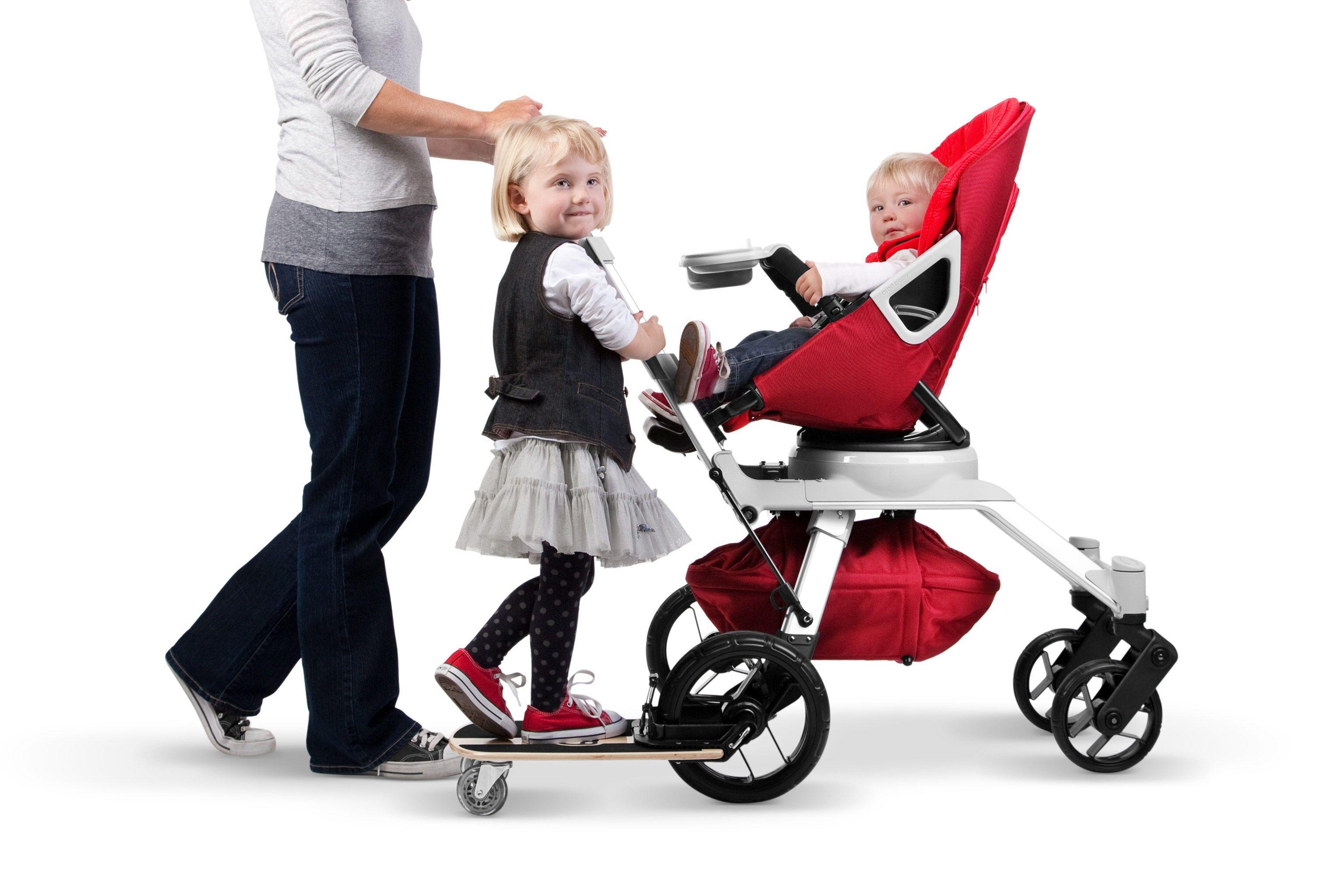 skateboard on a stroller from orbit baby baby kid ideas