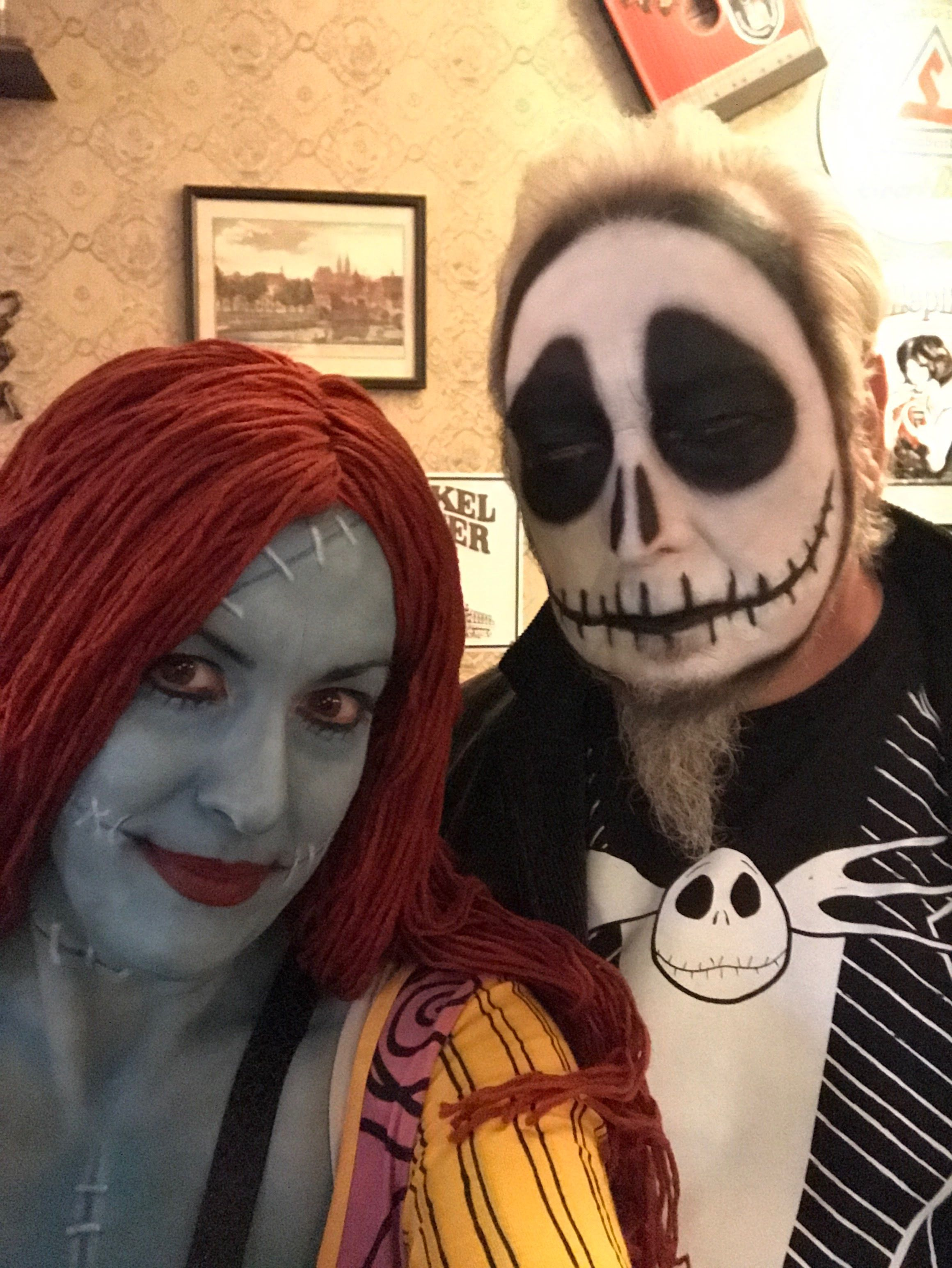 Sally and Jack from Nightmare Before Christmas Nightmare