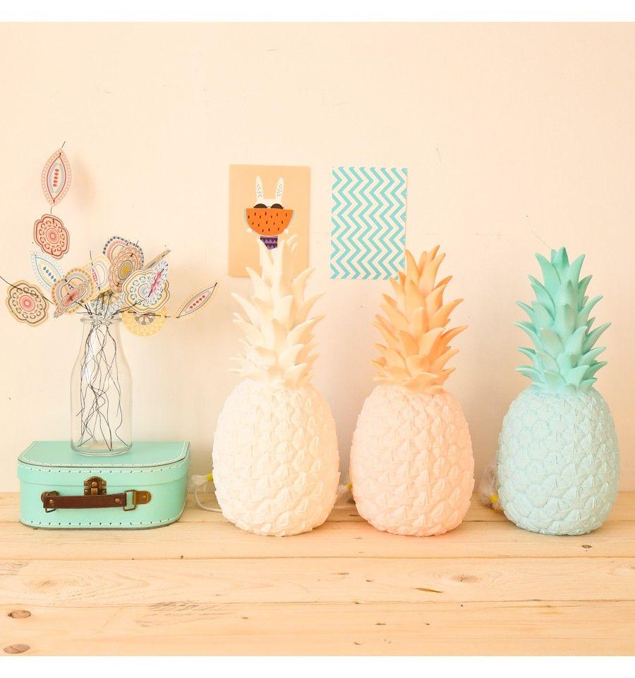 Lampe Veilleuse ananas mint poudré Goodnight light  Déco chambre