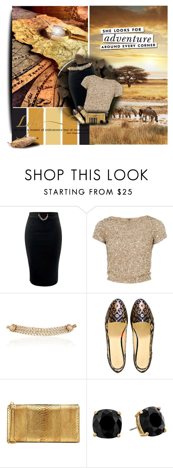 """""""Golden Summer"""" by cindycook10 ❤ liked on Polyvore featuring Alice + Olivia, Maison Mayle, Tom Ford, Kate Spade and House of Harlow 1960"""