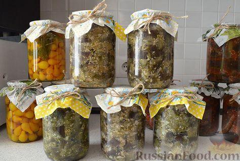 """Рецепт Баклажаны """"как грибы"""" (с чесноком) на зиму, cостав ..."""