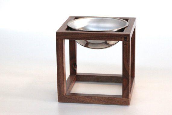 single dog feeder stand
