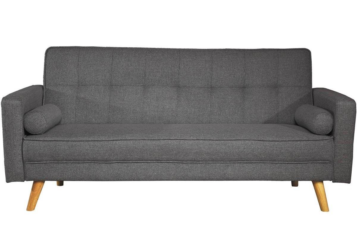 Boston charcoal grey seater modern fabric sofa bed modern