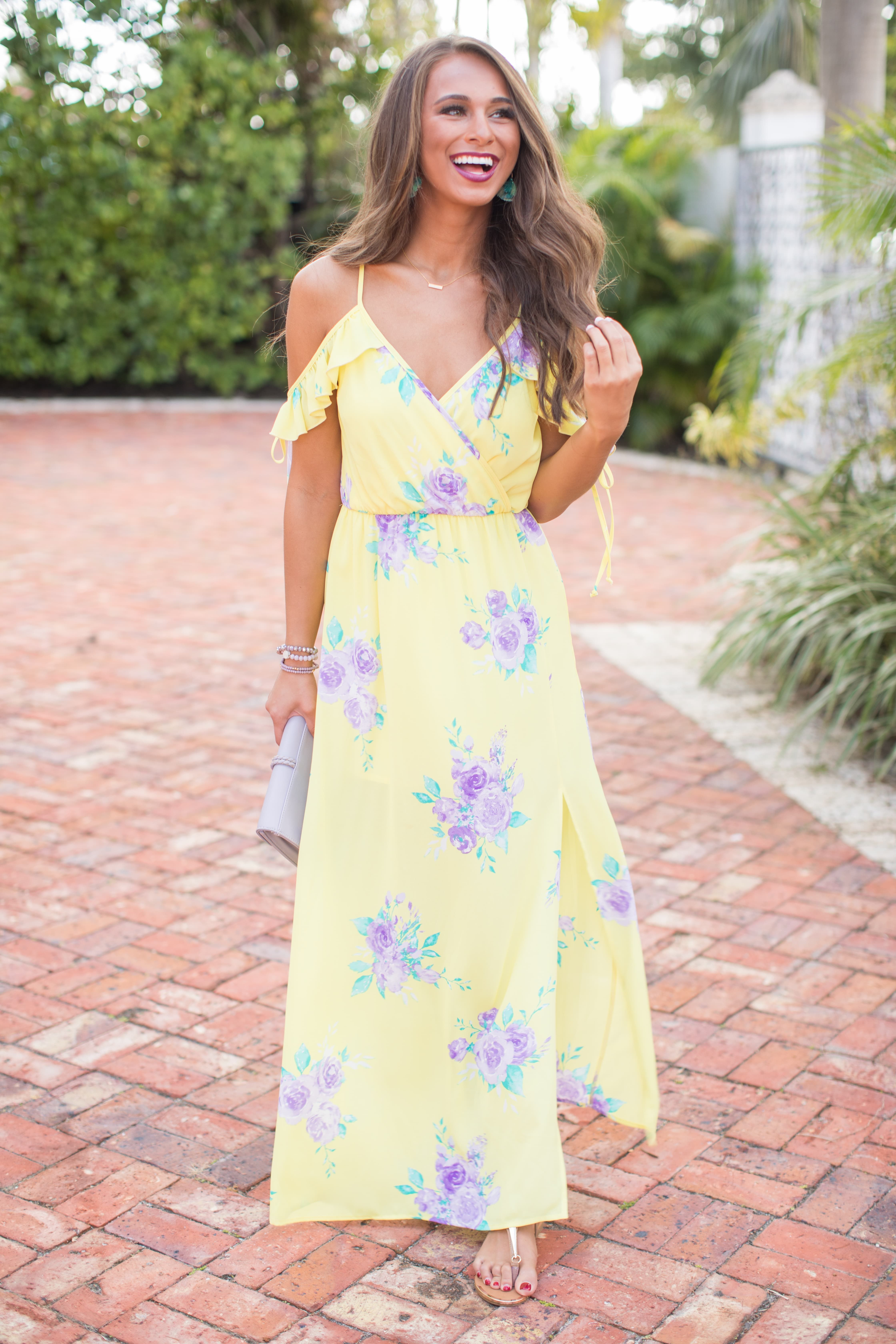 10c88558c1 This darling floral maxi is made for spring getaways and nights on vacation!