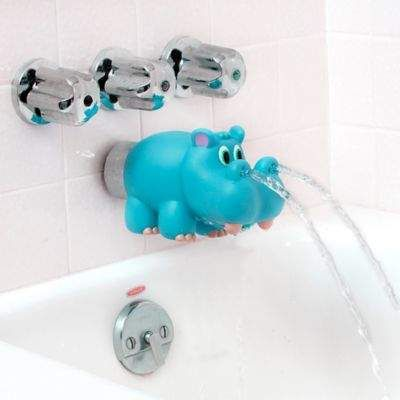 Nuby Hippo Water Spout Cover In Blue With Images Bath Spout