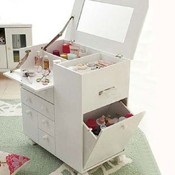 Dressing Tables Small Vanity Table, White Dressing Table With Fold Down Mirror