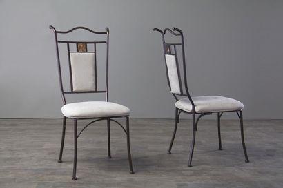 Baxton Studio Tirana Metal Transitional Dining Chair