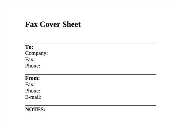 Image result for fax cover sheet template miscellaneous - Fax Cover Sheet Free Template