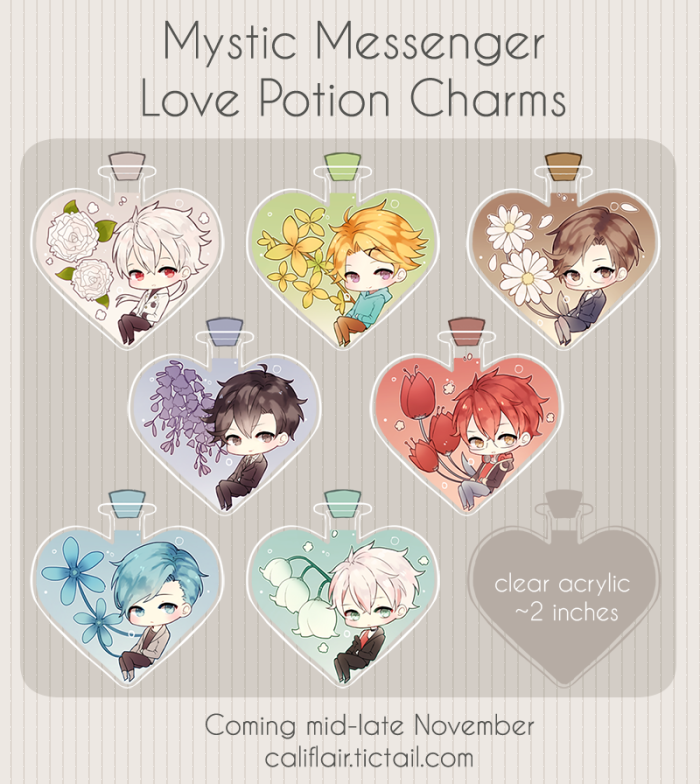 The product mystic messenger love potion charms is sold by califlair in our tictail