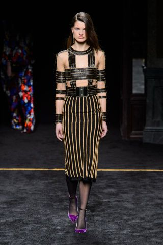 Balmain Fall 2015. See all the best runway looks from Paris Fashion Week here: