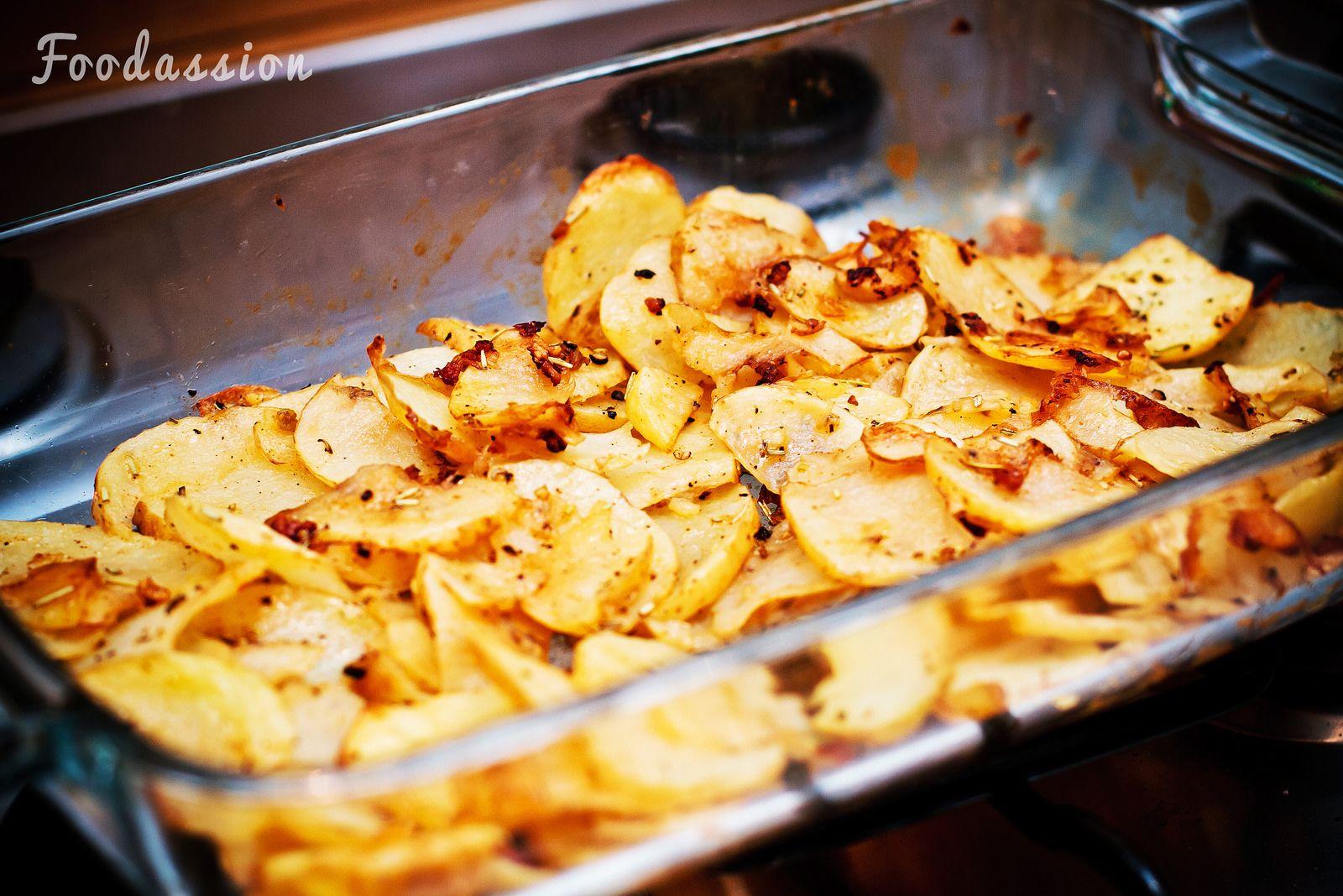 Raakapaistetut perunat