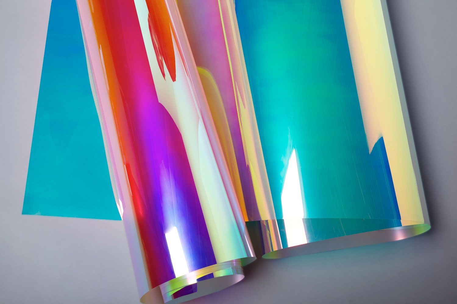3m dichroic glass finishes come in two different color waves  blaze  left  and chill  right