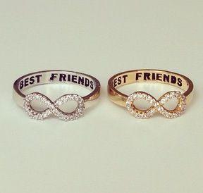 Freundschaftsringe best friends  Infinity | Accessories | Pinterest | Unendlichkeit