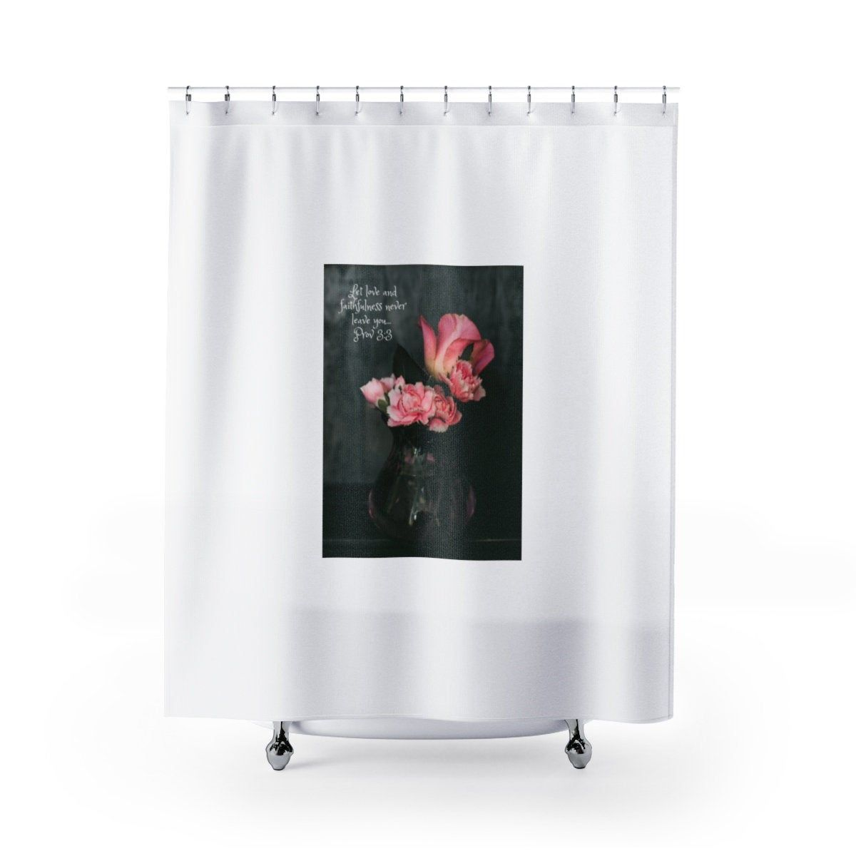 Scripture Shower Curtain Bible Verse Bath Set Christian Shower