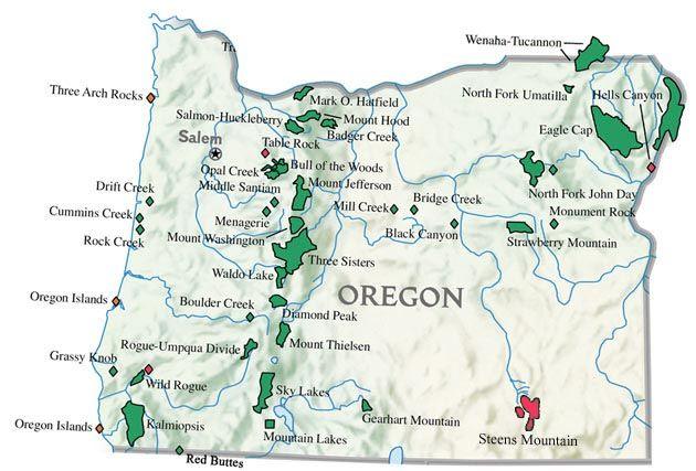 Take A Hike Hiking Oregon The State Of Oregon Has A Vast Array - Oregon rivers map