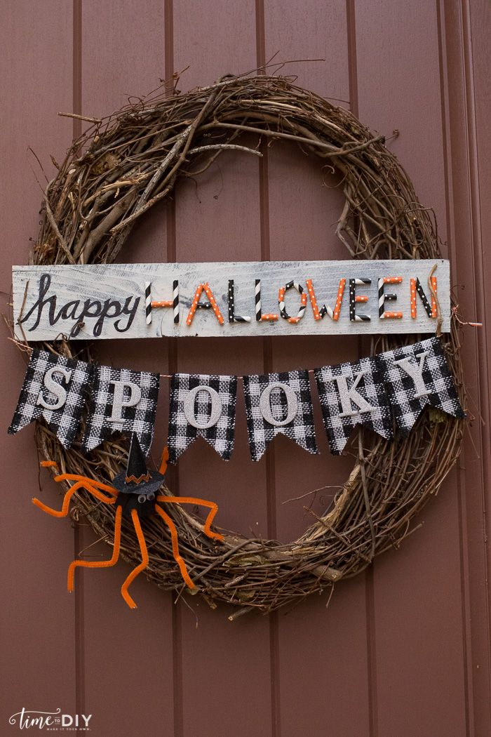 Easy Halloween Decor Ideas - Time to DIY Halloween Pinterest - cheap halloween decor ideas