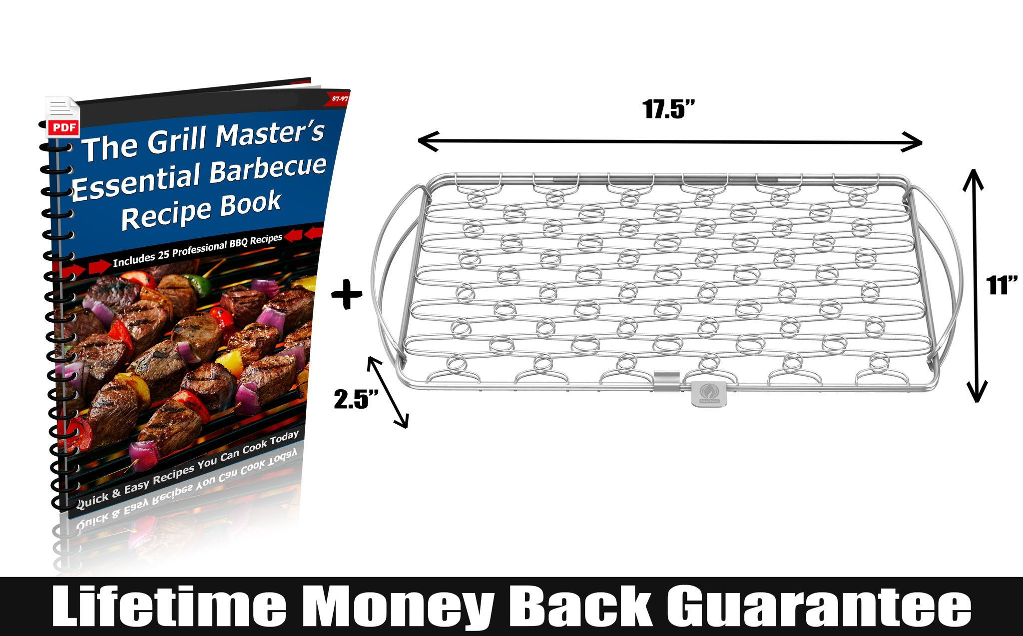 YOU CAN'T AFFORD TO RUIN A GOOD FISH MEAL - With fresh whole fish running upwards of $20/Lb these days the last thing you want is your fish falling apart or dro  Get the Cave Tools Large Fish Grill Basket here: http://snip.ly/5hly1