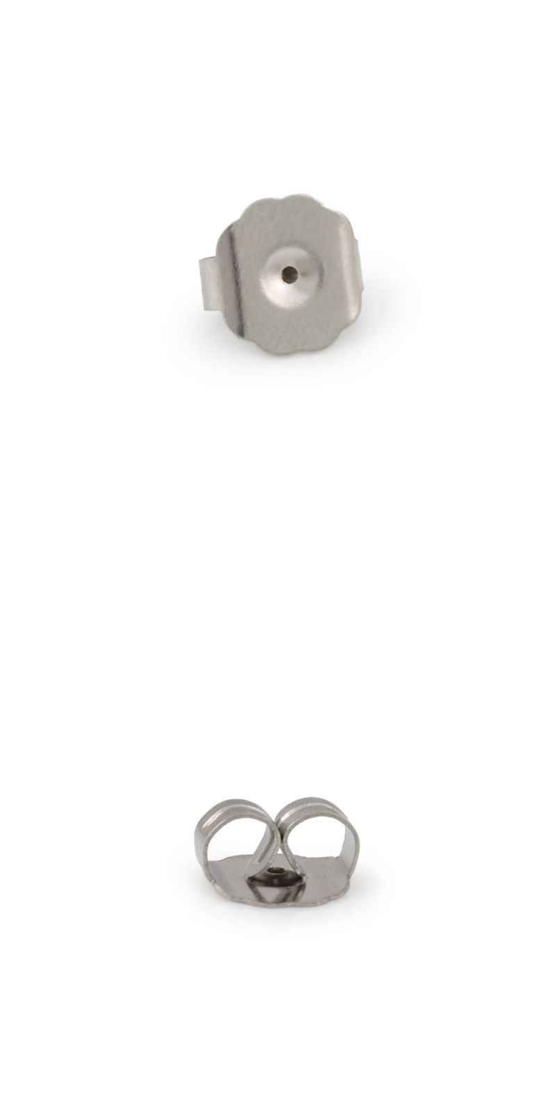 Earring Findings 150051 Extra Large Surgical Stainless Steel Backs Package Of 10
