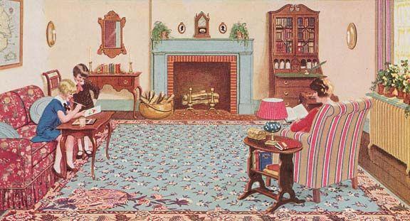 History Of Linoleum Rugs Linoleum Vintage House 1920s Home Decor