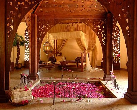 Mughal style bedroom pinned by the tiger s armoire luxury for Wallpaper designs for bedroom indian