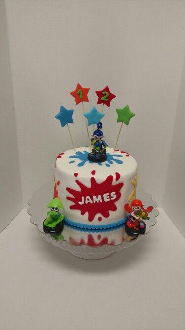 Splatoon Birthday Cake Boy Birthday Parties Cake Cake
