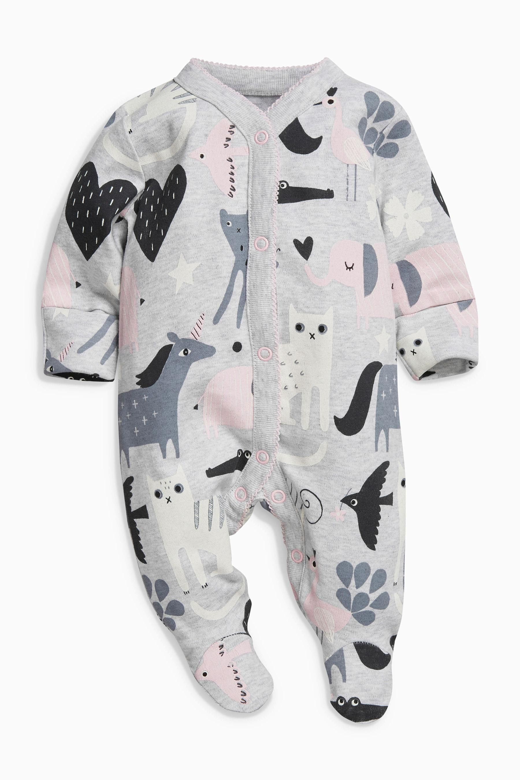 Buy Slogan Sleepsuits Three Pack 0mths 2yrs from the Next UK