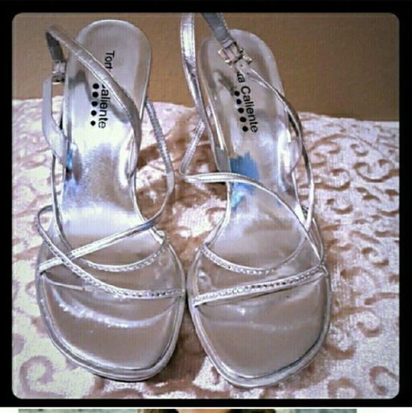 ??? Beautiful Torta Caliente Silver pumps ??? ??? Beautiful Torts Caliente silver strap pumps ??? Torta Caliente Shoes Heels