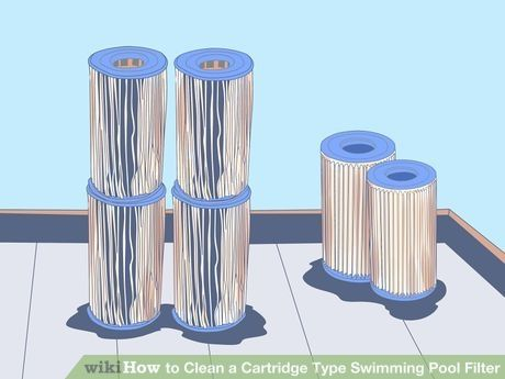 How To Clean A Cartridge Type Swimming Pool Filter Swimming Pool Filters Cleaning Pool Filters Pool Filters
