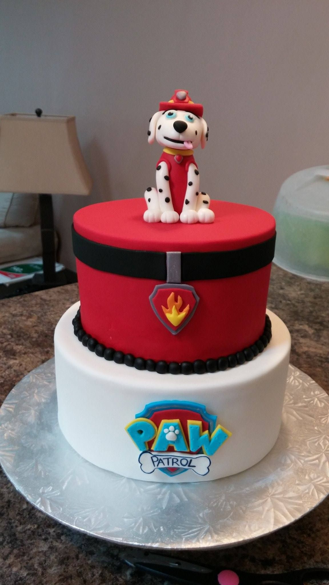 Marshall Paw Patrol Cake! - Paw patrol cake, Paw patrol, Cake, Marshall paw patrol, Paw patrol party, Paw - Yep, another Paw Patrol cake! The night that I finished this bad boy, I woke up at 3am and had a panic attack that I made a different character than the client had requested  Sure enough, I done go…