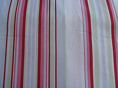 Red, Blue, Pink and Green Stripe Fabric