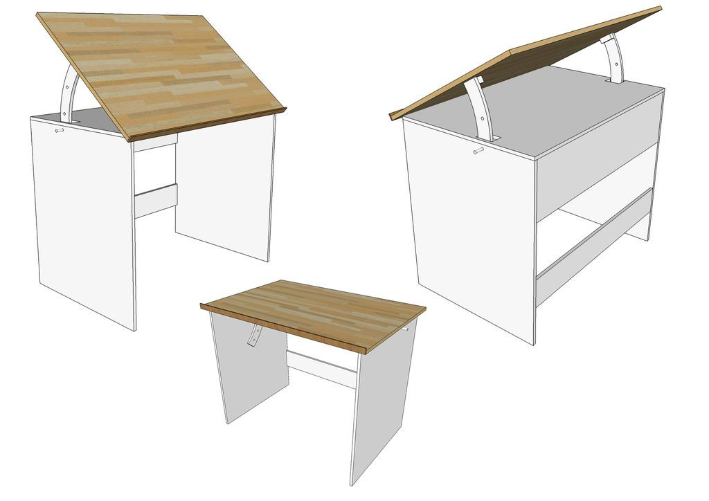 Drafting Desk Plans And Designers Modern Design Is Ideal For Students Tables Make A Wood Table The Architect S