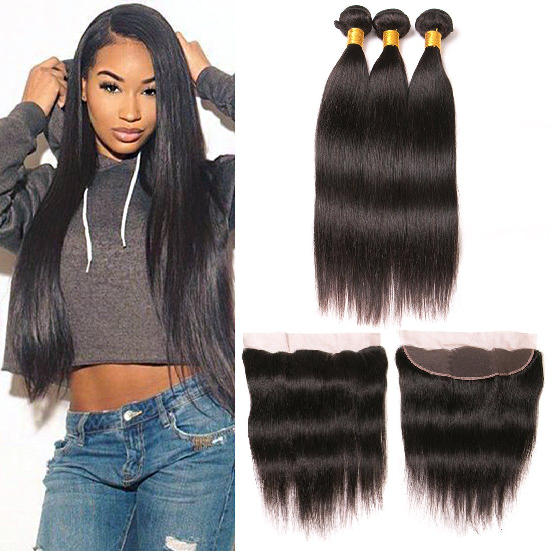 Straight Brazilian hair with closure recommend to wear for winter in 2019